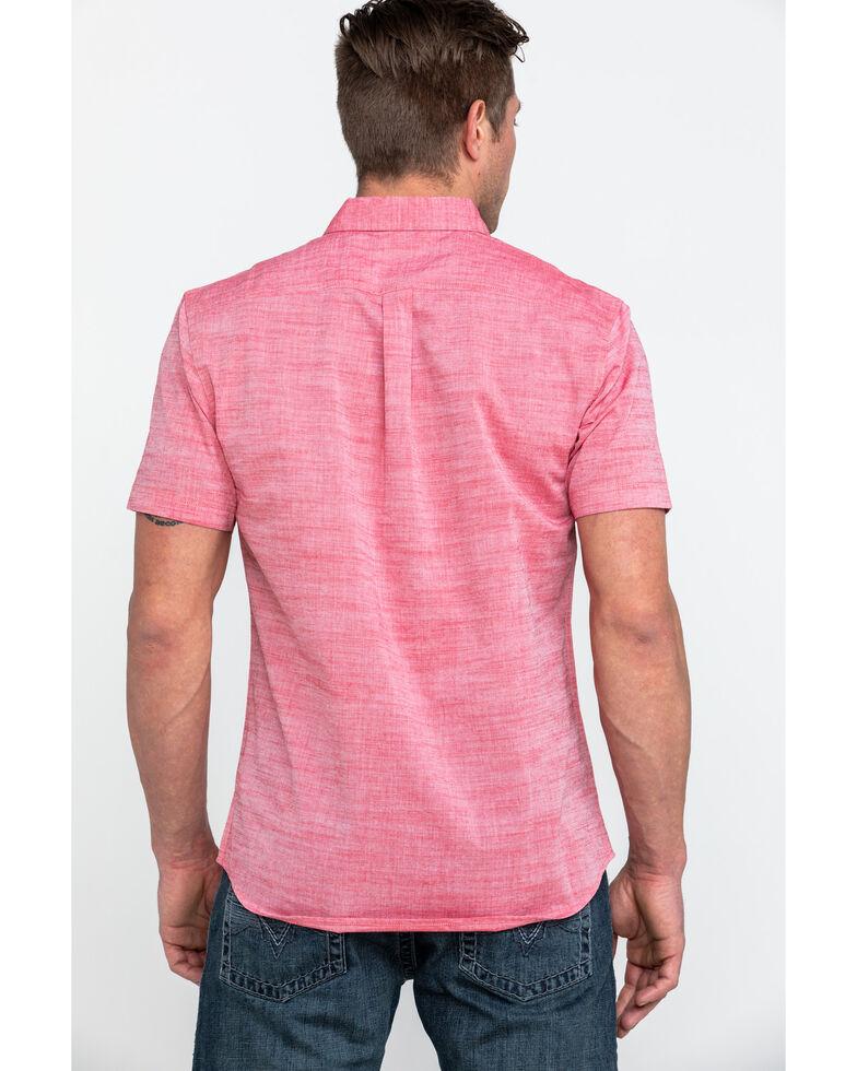 Levis Men's Bucci Solid Short Sleeve Western Shirt , Red, hi-res