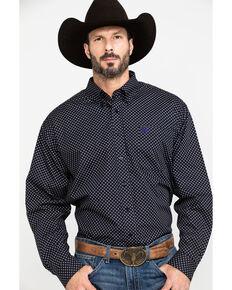 Cinch Men's Black Dot Geo Print Long Sleeve Western Shirt , Black, hi-res