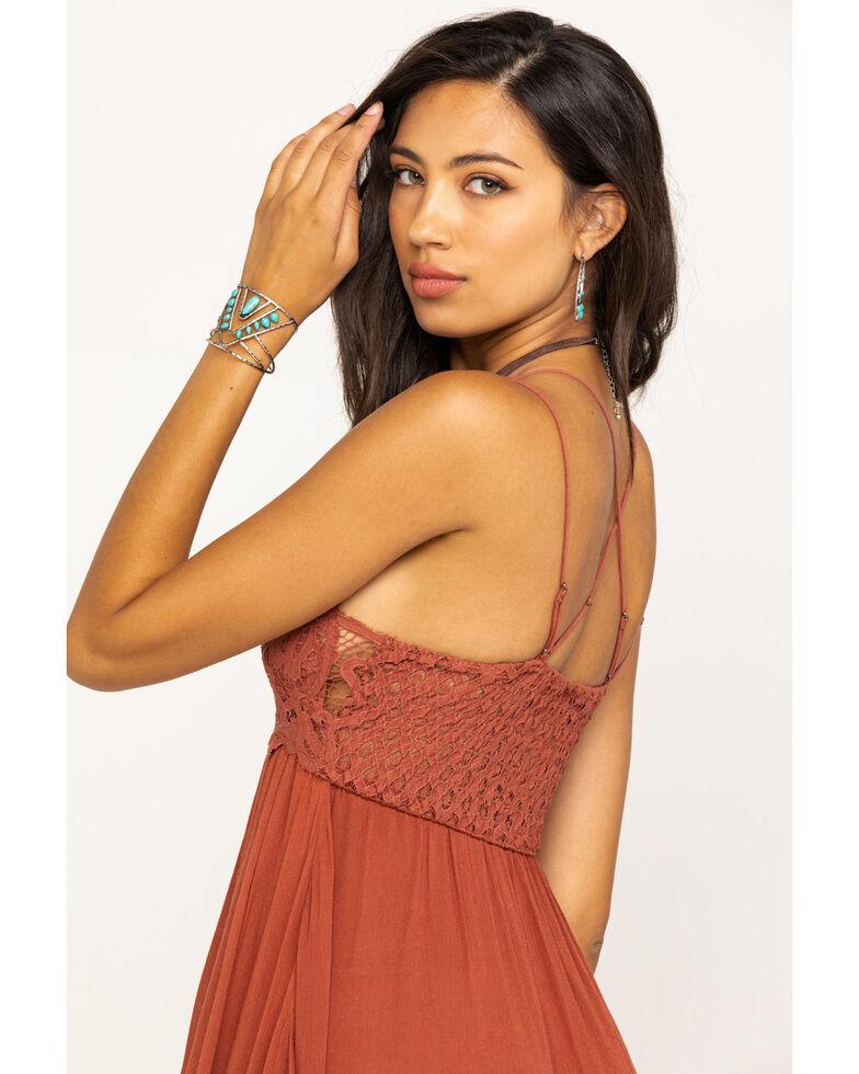 Free People Women's Adella Slip Dress, Coral, hi-res