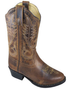 Smoky Mountain Girls' Annie Western Boots - Round Toe, Brown, hi-res