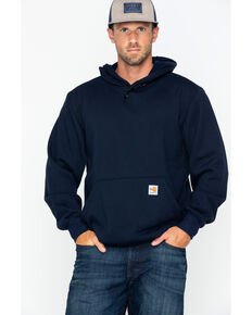 Carhartt Men's Hooded Pullover Solid Work Sweatshirt - Big & Tall , Navy, hi-res