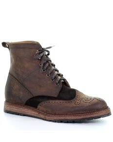 Corral Men's Lace-Up Boots - Round Toe, Chocolate, hi-res