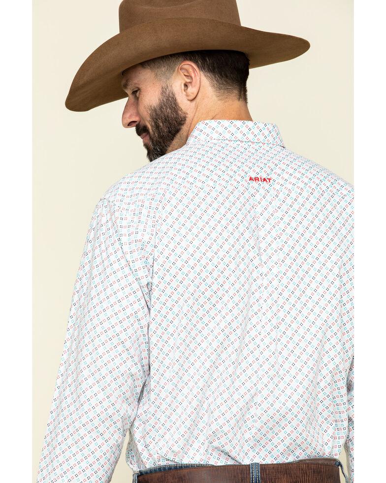 Ariat Men's Sausalito Geo Print Long Sleeve Western Shirt - Tall , White, hi-res