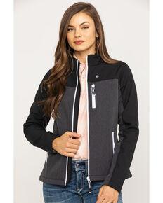 Roper Women's Grey Contrast Softshell Jacket, Grey, hi-res
