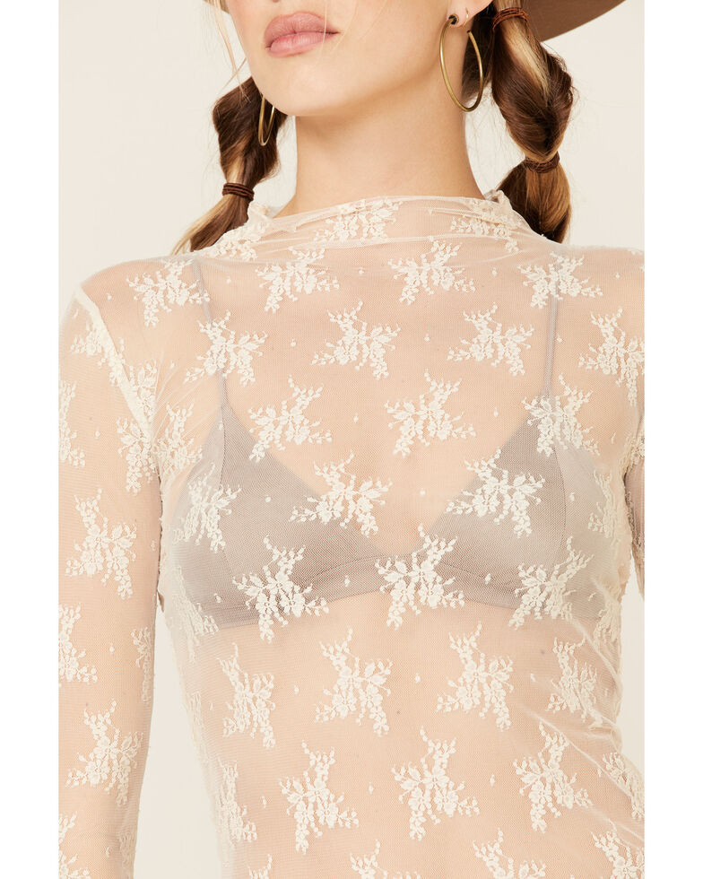 Free People Women's Ivory Lady Lux Layering Top , Ivory, hi-res