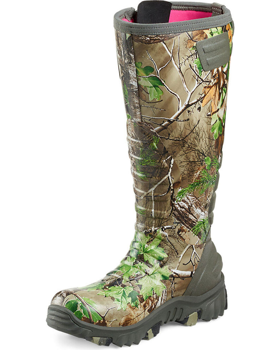 Irish Setter by Red Wing Shoes Women's Rutmaster Realtree Xtra Green Camo Rubber Boots - Round Toe, Camouflage, hi-res