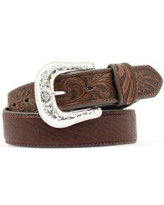 Nocona Bullhide & Tooled Leather Belt, Brown, hi-res