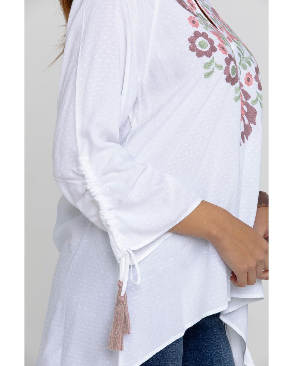 Ariat Women's Zinnia Top, White, hi-res