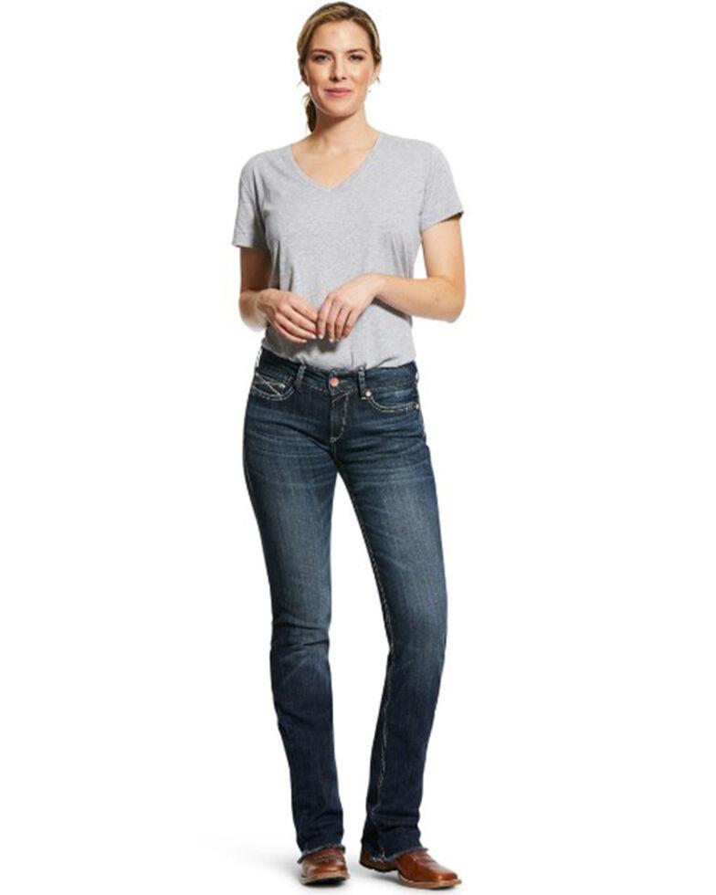 Ariat Women's Patty Straight Leg Jeans, Blue, hi-res