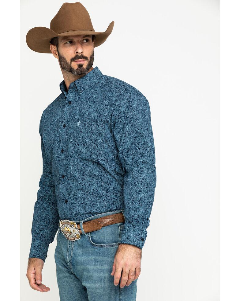 Ariat Men's Longmont Stretch Paisley Print Long Sleeve Western Shirt , Multi, hi-res