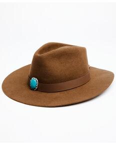Shyanne Women's Tan Yarrow Wool Felt Western Hat , Tan, hi-res