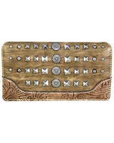 Montana West Women's Kaki Stone Wallet, Beige/khaki, hi-res