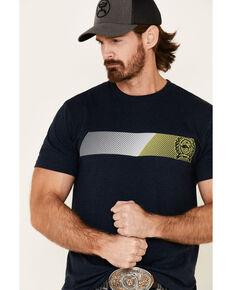 Cinch Men's Navy Line Logo Graphic T-Shirt , Navy, hi-res