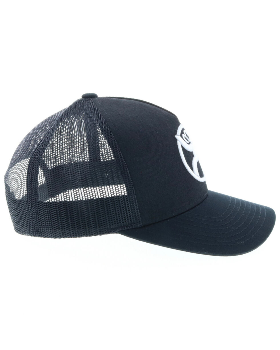 HOOey Men's Black Roughy 2.0 Trucker Cap, Black, hi-res