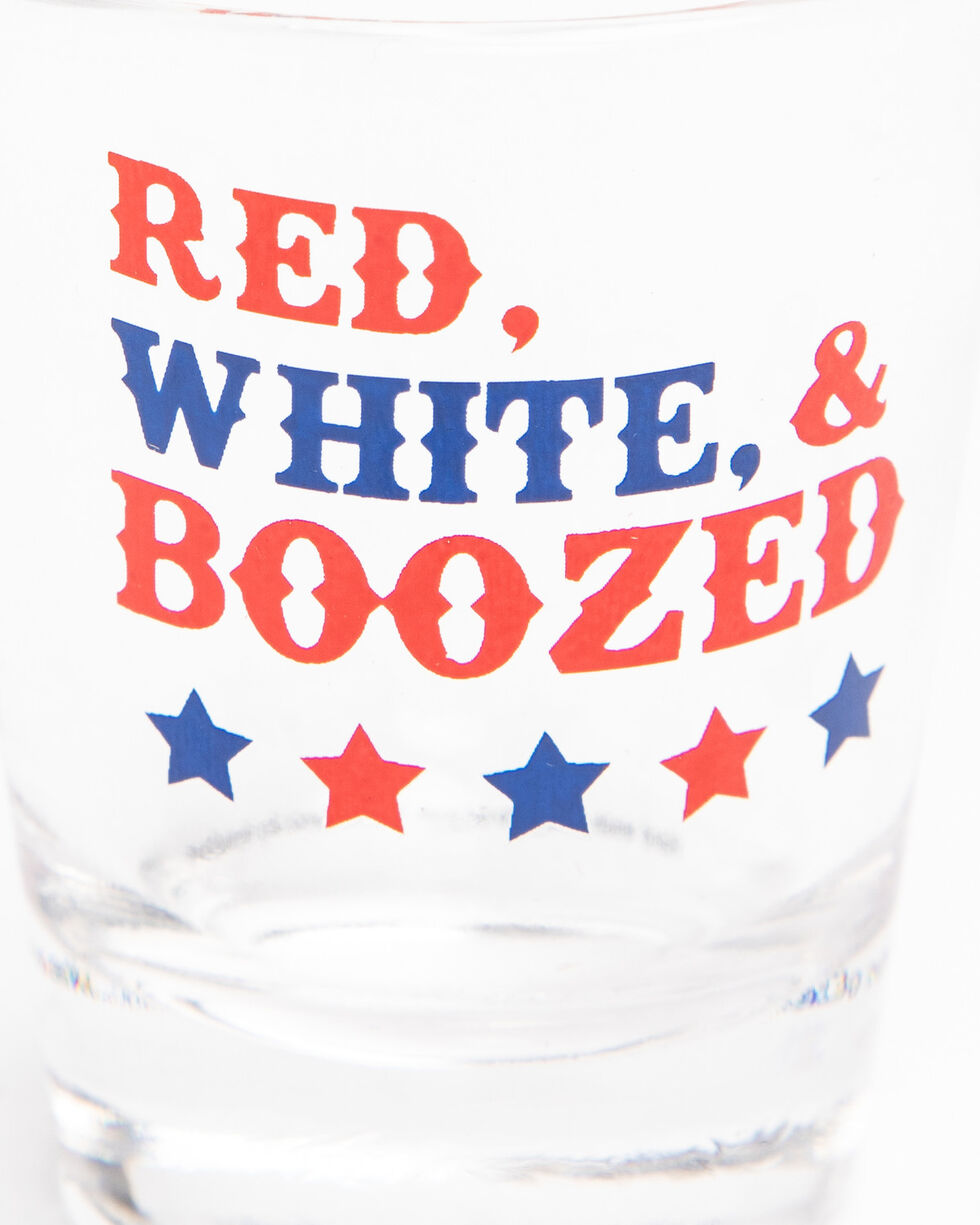 BB Ranch Red White & Boozed Shot Glass, Multi, hi-res