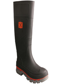 Twisted X Men's Waterproof Mud Boots - Round toe, Black, hi-res