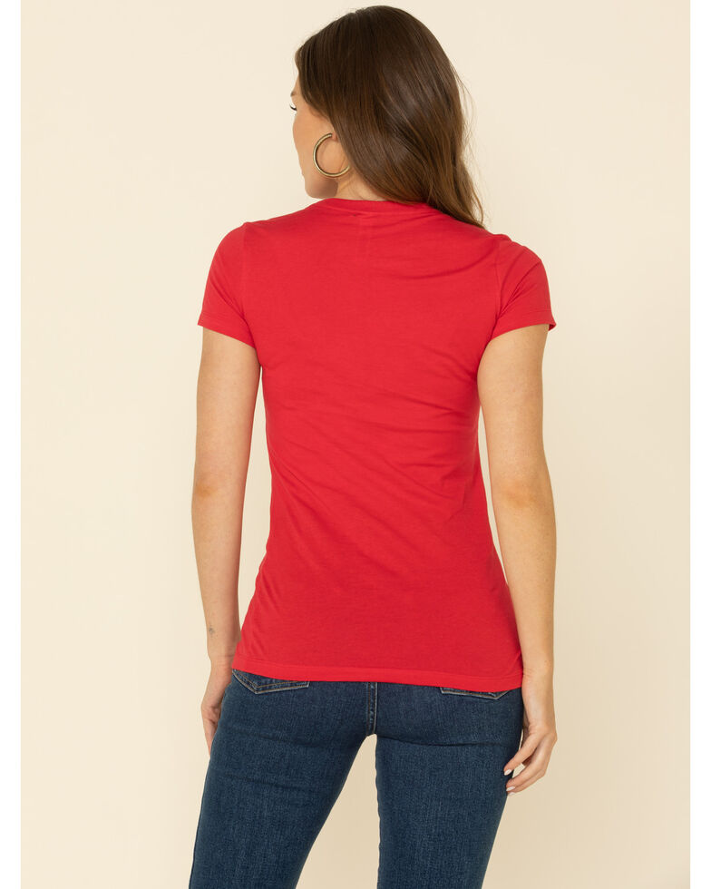 Ranch Dress'n Women's Hay Girl Graphic Tee , Red, hi-res