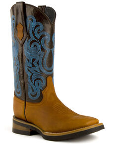 Ferrini Women's Maverick Western Boots - Square Toe, Brown, hi-res