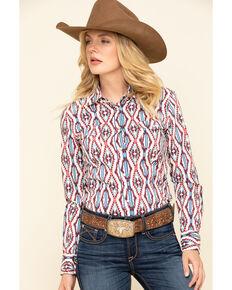 Rock & Roll Denim Women's Snap Aztec Long Sleeve Western Shirt , Multi, hi-res