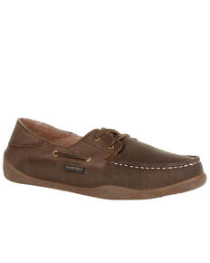 Georgia Boot Men's Cedar Falls Casual Shoes - Moc Toe, Brown, hi-res