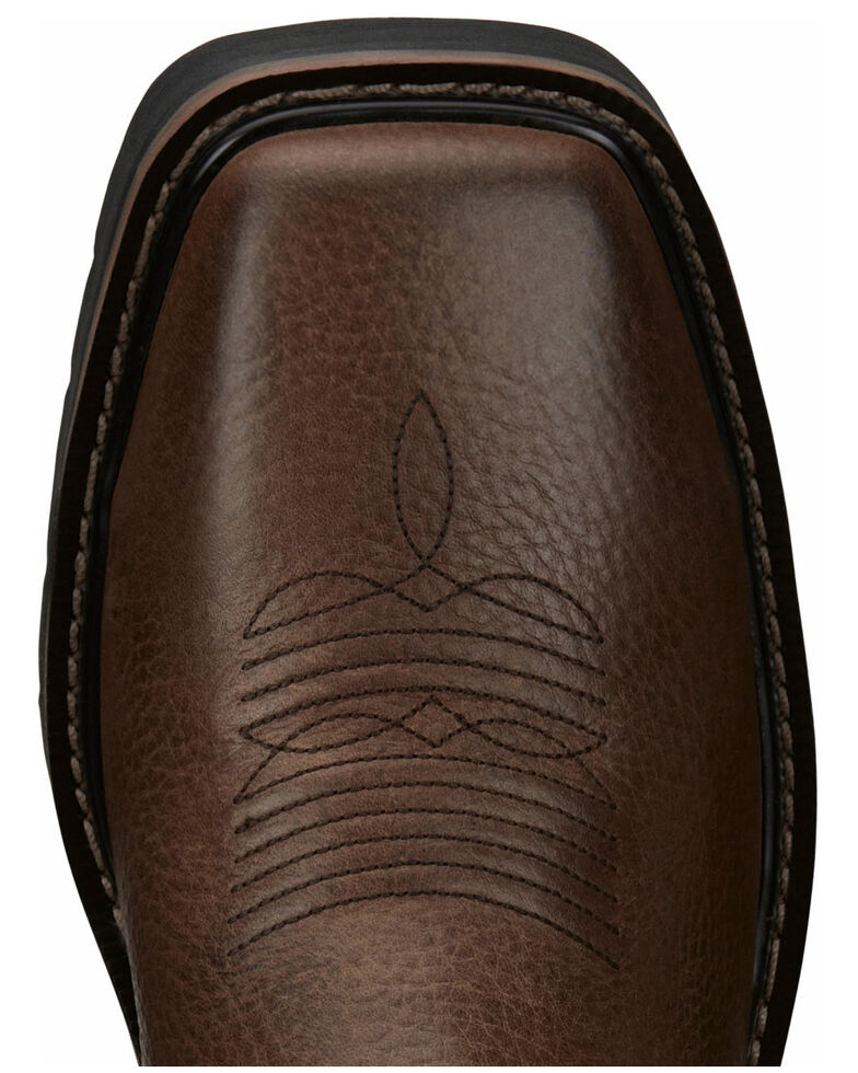 Justin Men's Driller Western Work Boots - Steel Toe, Dark Brown, hi-res