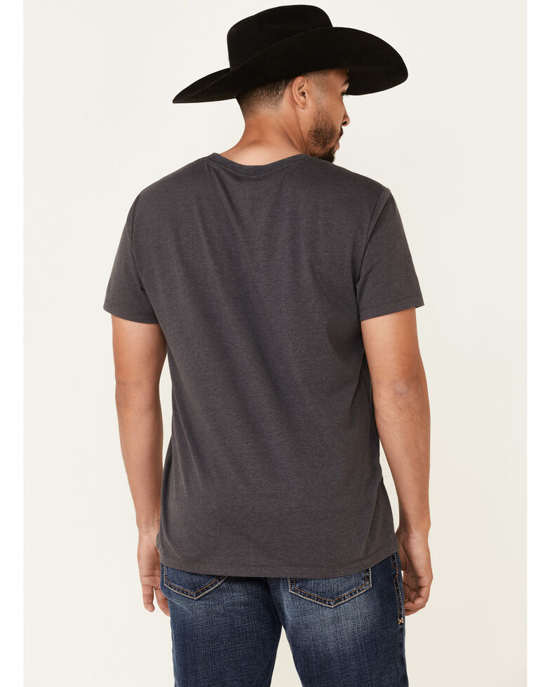 Rock & Roll Denim Men's Charcoal Circle Graphic Short Sleeve T-Shirt , Charcoal, hi-res