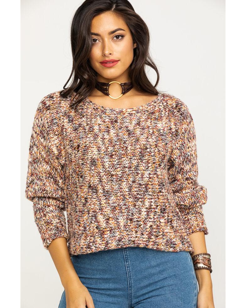 Elan Women's Rainbow Space Dye Sweater, Multi, hi-res