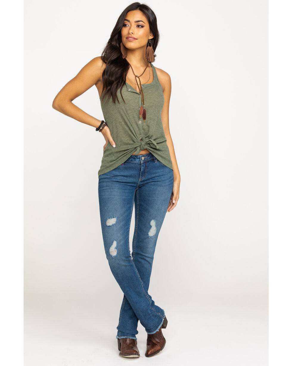 Idyllwind Women's Snap To It Tank, Olive, hi-res