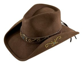 Bullhide More Than Friends Felt Cowgirl Hat, Brown, hi-res