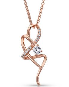 Montana Silversmiths Women's It's Rose Gold Complicated Necklace, Rose, hi-res
