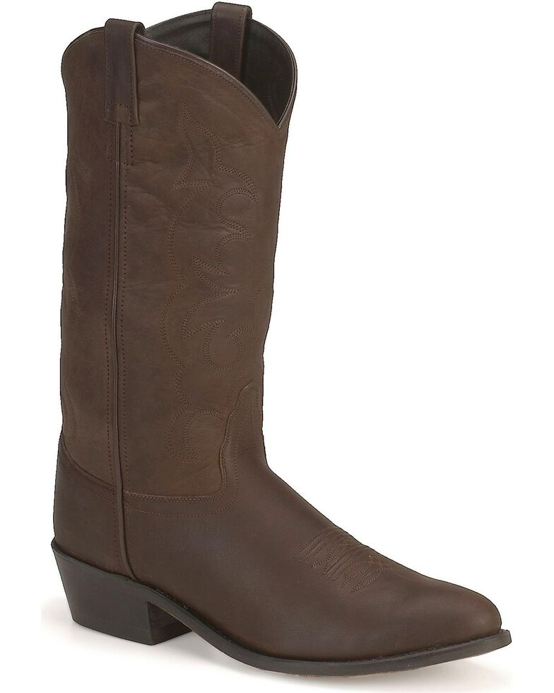 Old West Western Boots in Distressed Leather - Medium Toe, Distressed, hi-res