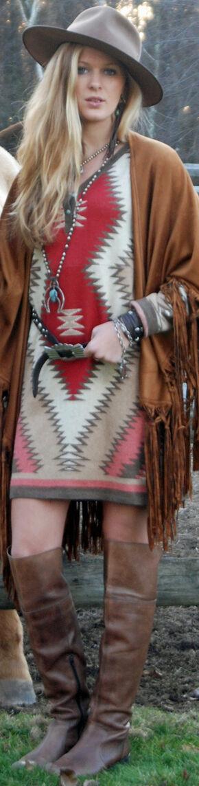Tasha Polizzi Women's Shavano Blanket Dress, Ruby, hi-res