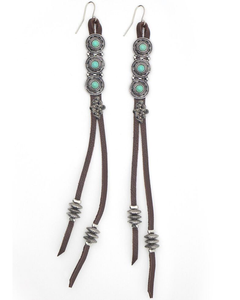 Cowgirl Confetti Women's Only Going Up Earrings, Brown, hi-res