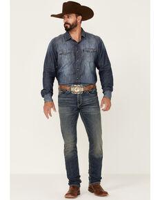 Ariat Men's M8 Offroad Dark Wash Tek Stretch Modern Slim Leg Jeans , Blue, hi-res