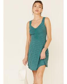 Wrangler Women's Marled Flare Tank Dress, Teal, hi-res