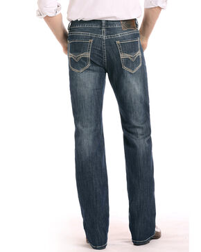 Rock & Roll Cowboy Men's Reflex Double Barrel Jeans, Dark Blue, hi-res