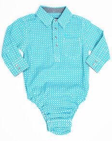 3d6a1b7e8 Cody James Infant Boys Diamond Field Print Long Sleeve Body Shirt ,  Turquoise, hi-