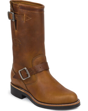 "Chippewa Women's Renegade 11"" Engineer Boots - Round Toe, Tan, hi-res"
