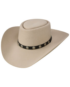 Resistol Men's Buffalo River 6x Felt Cowboy Hat, Silver Belly, hi-res