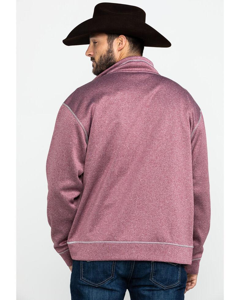 Cowboy Hardware Men's Diamond Barbwire Full Cadet Zip-Up Jacket , Maroon, hi-res