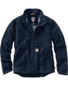 Carhartt Men's Flame-Resistant Full Swing Quick Duck Jacket , Navy, hi-res