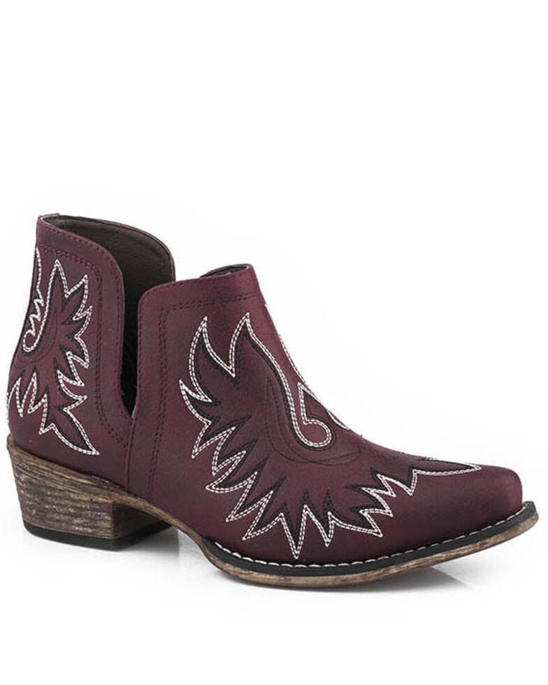 Roper Women's Ava Fashion Booties - Snip Toe, Red, hi-res