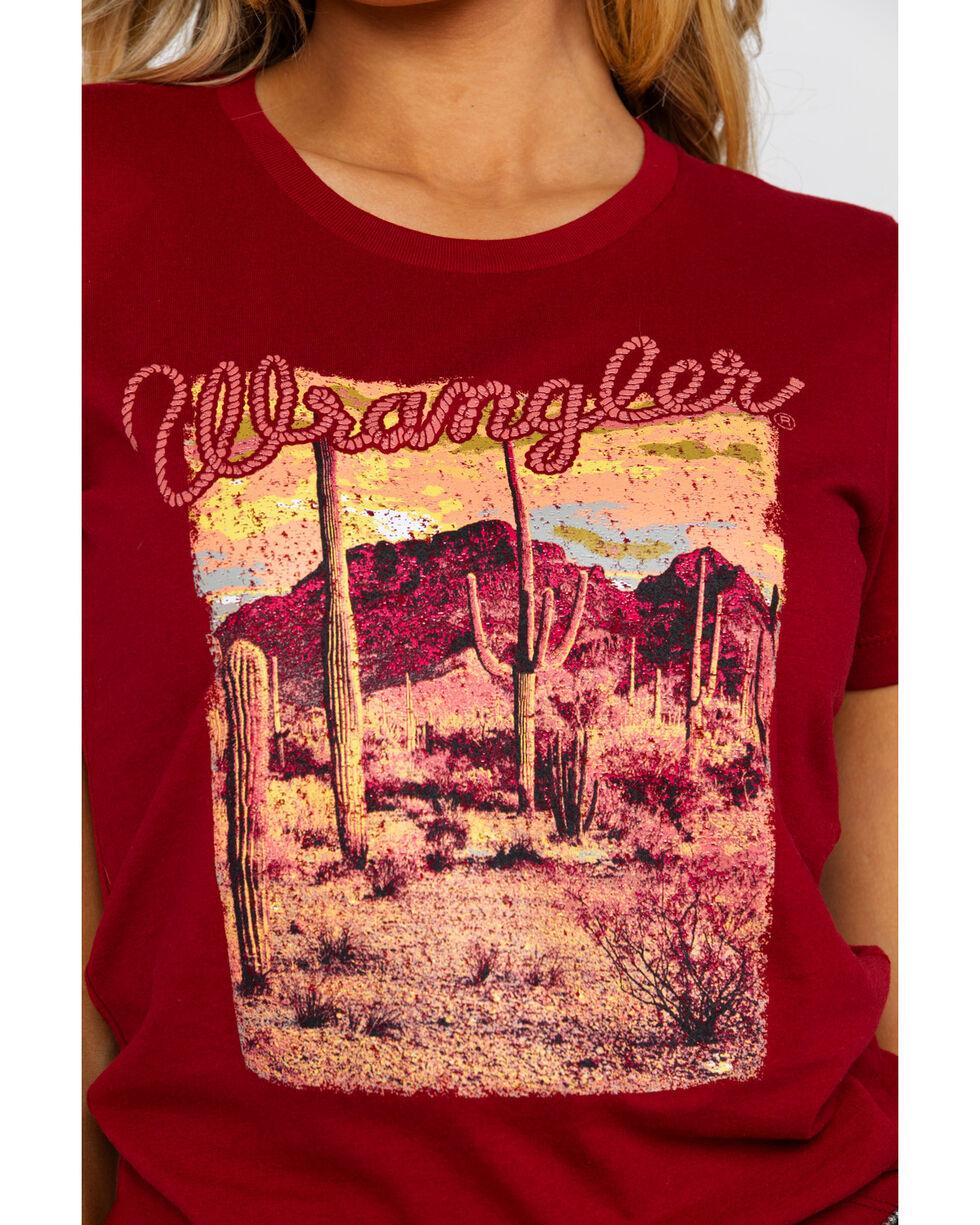 Wrangler Retro Women's Desert Screen Graphic Tee , Burgundy, hi-res