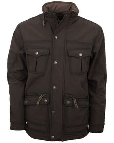 STS Ranchwear Men's Brown The Brazos Softshell Jacket , Brown, hi-res