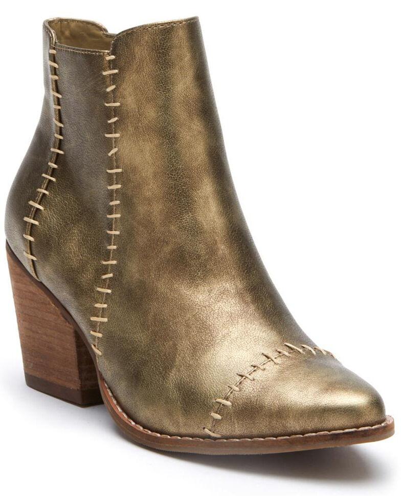 Matisse Women's Elaine Western Booties - Round Toe, Gold, hi-res