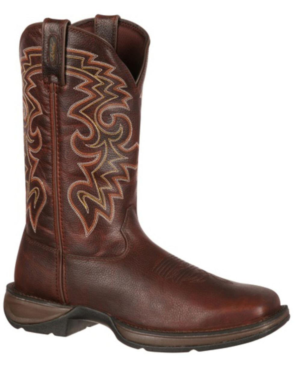 Durango Rebel Men's Pull-On Western Boots - Square Toe, Chocolate, hi-res