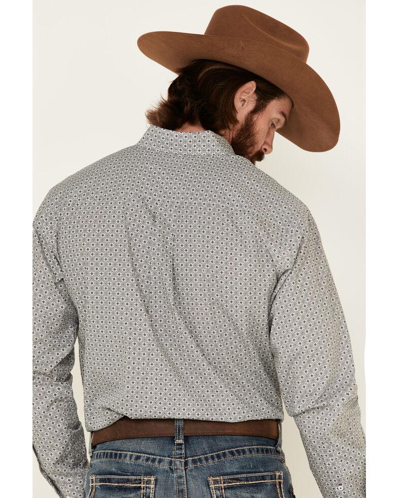 Cinch Men's Floral Geo Print Long Sleeve Western Shirt , White, hi-res