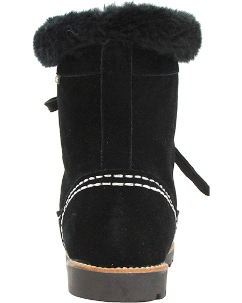 Lamo Footwear Women's Taylor Lace-Up Boots - Round Toe, Black, hi-res