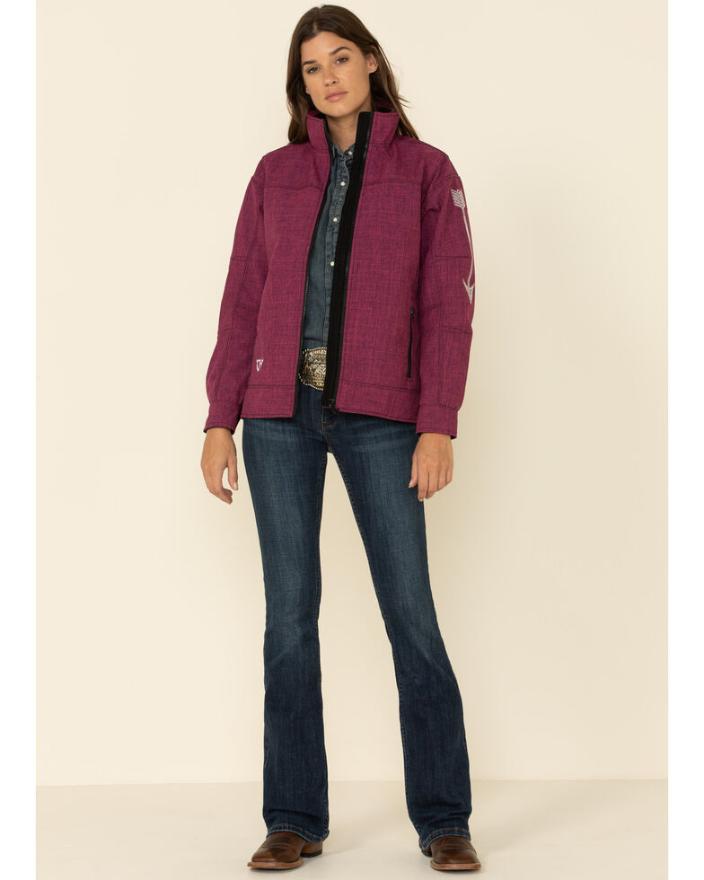 Cowgirl Hardware Women's Berry Tech Woodsman Arrow Jacket, Pink, hi-res