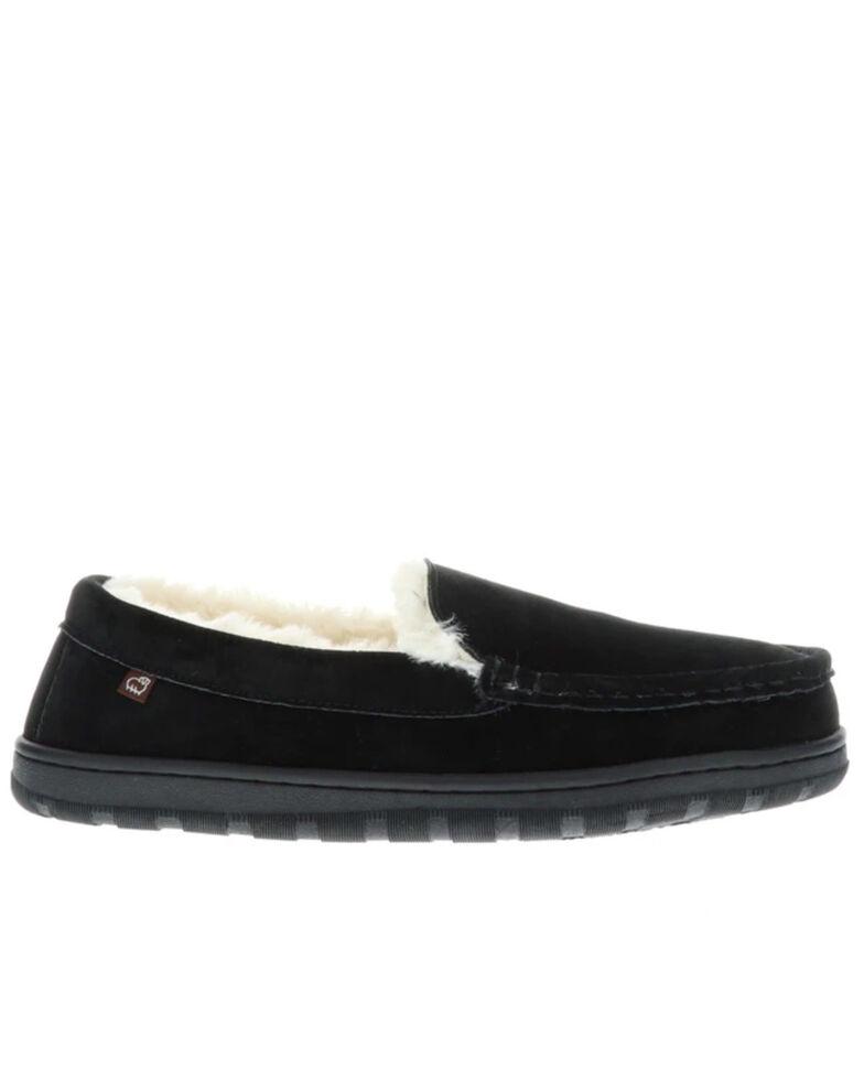 Lamo Footwear Men's Harrison Slippers - Moc Toe, Black, hi-res